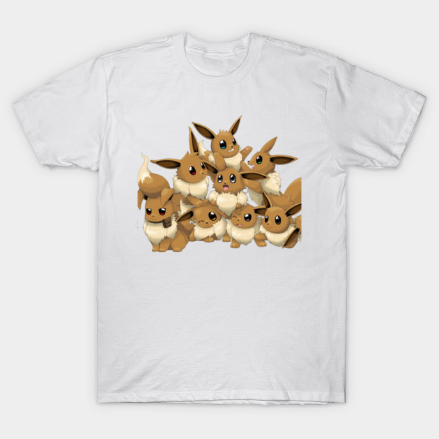 8de1598f Eevee everywhere - Pokemon - T-Shirt | TeePublic