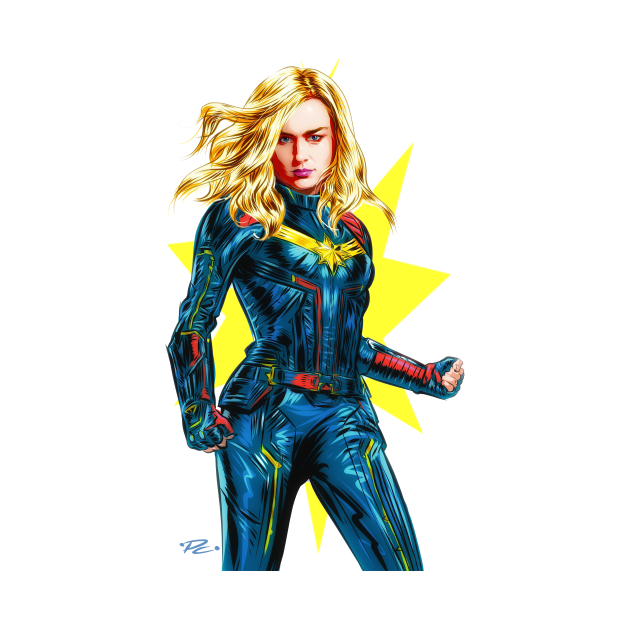 Brie Larson - An illustration by Paul Cemmick
