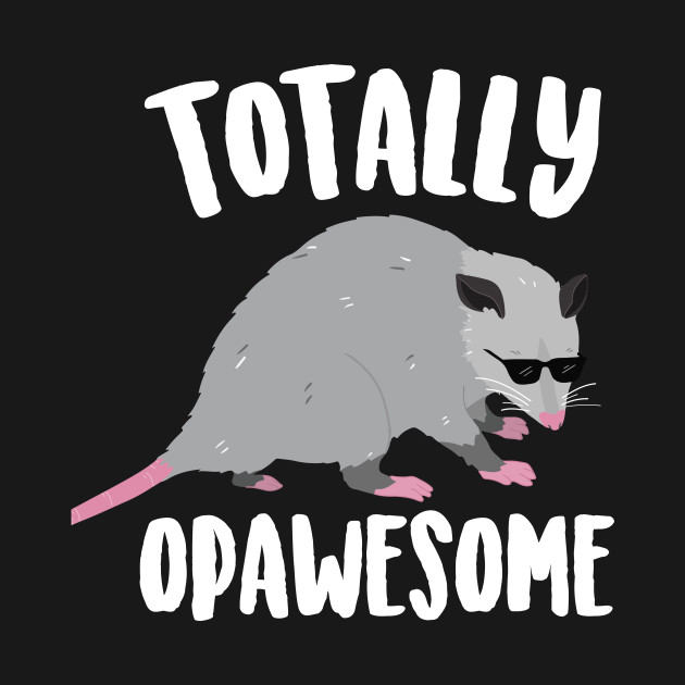Totally Opawesome Funny Opossum Opossum T Shirt Teepublic