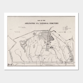 Old Arlington National Cemetery Map Posters and Art Prints | TeePublic