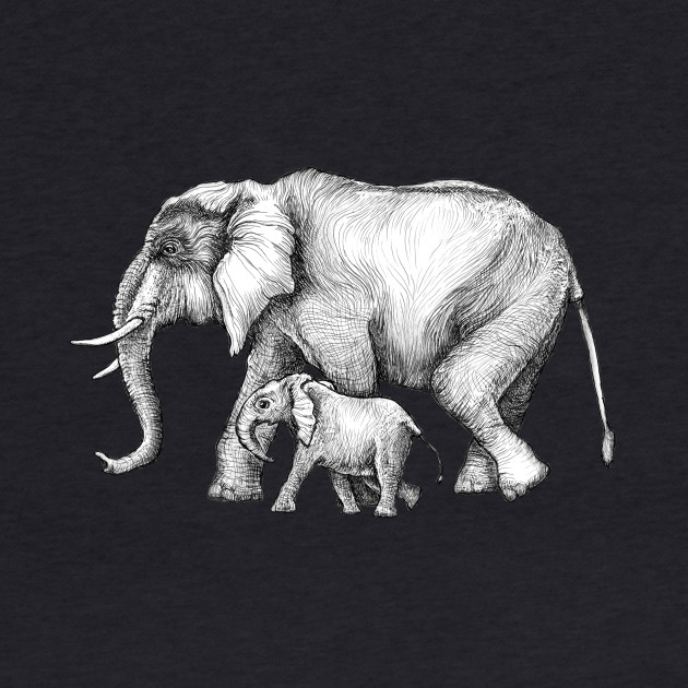 Mama Elephant and Baby Tag-a-long