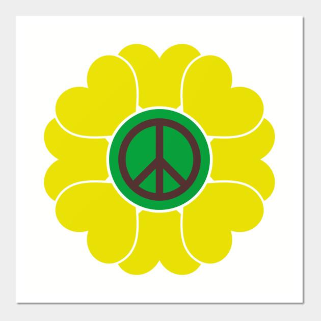 Peace Sign Love 60s 70s Tie Dye Hippie Costume
