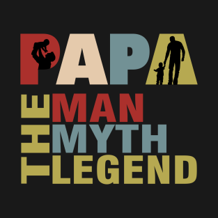 b7c64428f The Man The Myth The Legend Shirt for Mens Papa Dad Daddy T-Shirt