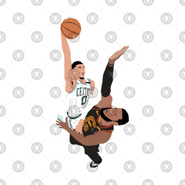 Jayson Tatum dunk on LeBron James