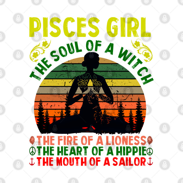 Pisces Girl for Yoga Black Women Birthday Gifts the soul of a lioness the heart of a witch the fire of a hippie the mouth of a sailor