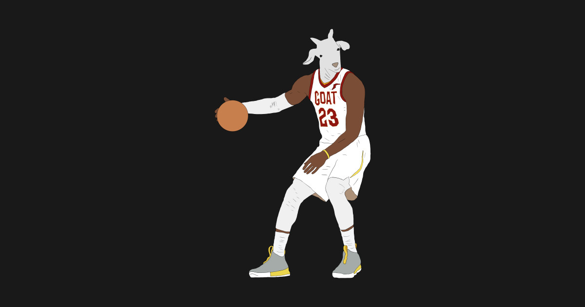 a971085cd3a1 LeBron James, The GOAT - Lebron James - T-Shirt | TeePublic
