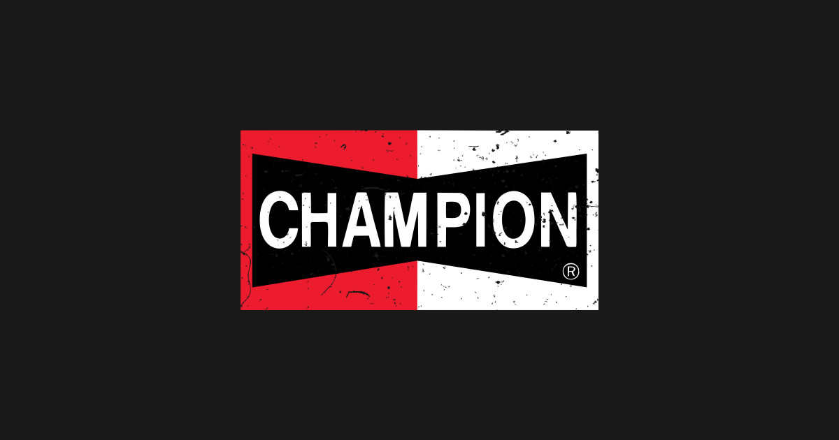 great prices best selling various colors Champion Spark Plugs - Disstresed vintage logo by koloisna