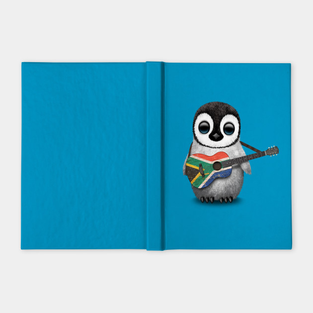 Baby Penguin Playing South African Flag Guitar