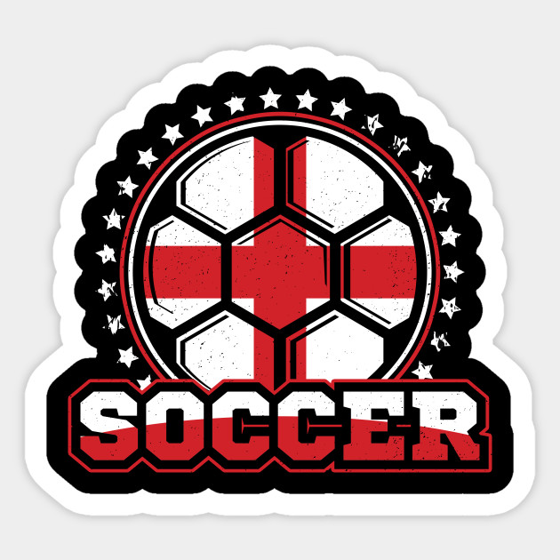 Distressed Soccer England Flag Sticker