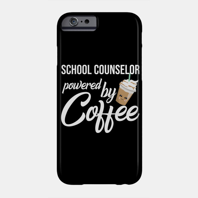 School Counselor Powered By Coffee Funny Gift Idea