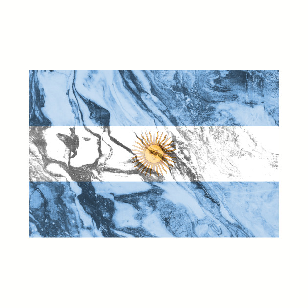 Flag of Argentina - Marble texture