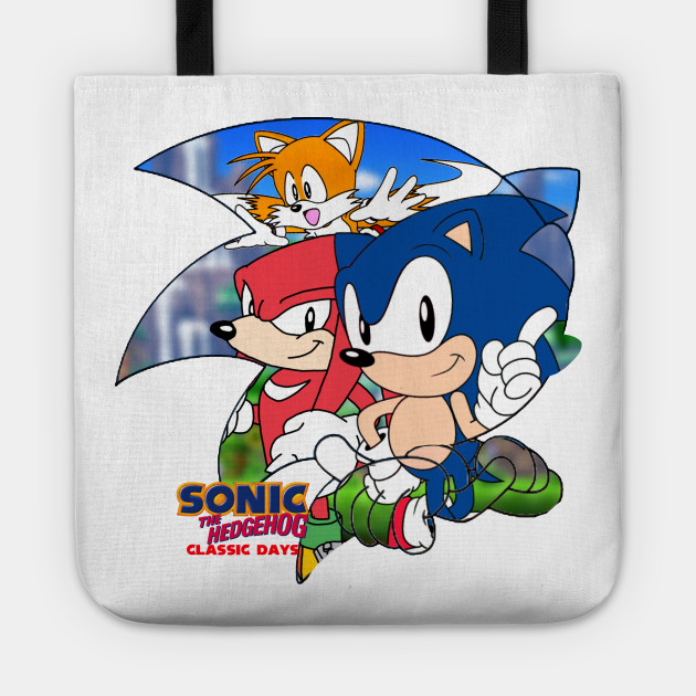 Sonic The Hedgehog Classic Days Grapic Sonic The Hedgehog Classic Days Tragetasche Teepublic De