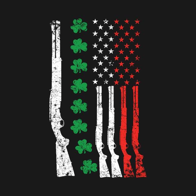 Irish american flag with shotguns