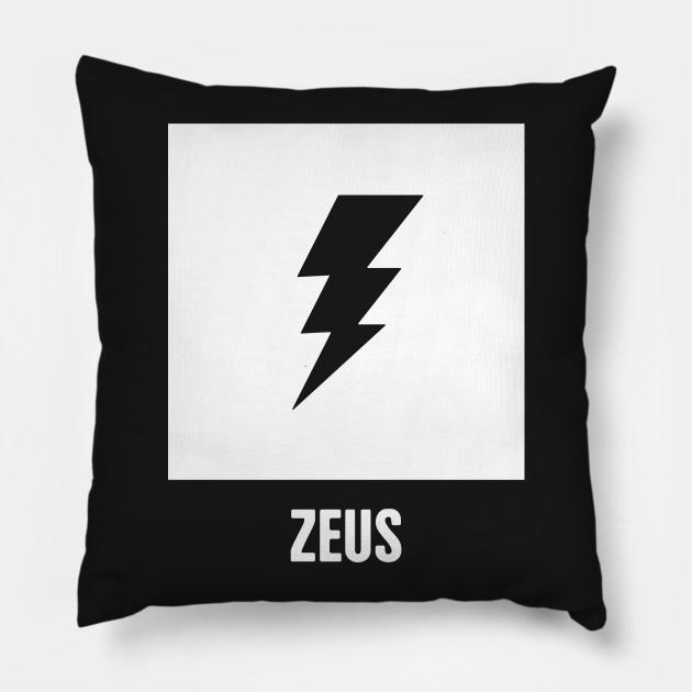 Zeus Greek Mythology God Symbol Greek Mythology Pillow Teepublic