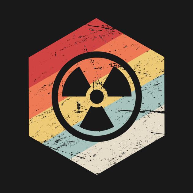 Retro Vintage Nuclear Radiation Symbol