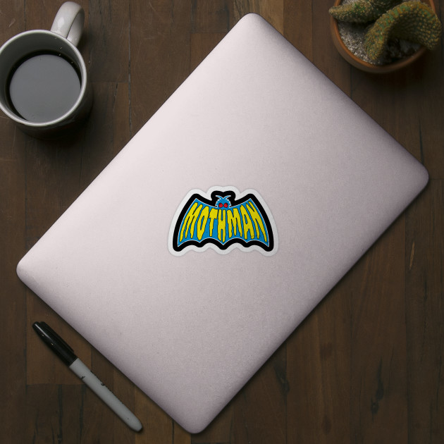 Mothman Wings Retro Logo
