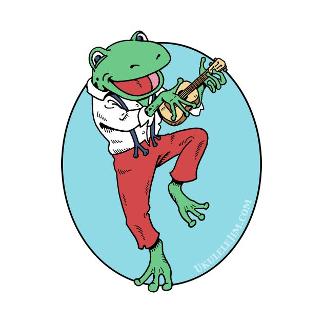 Ukulele Playing Frog