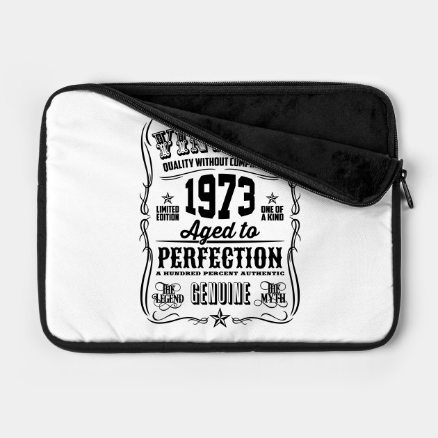 Vintage 1973 Aged to Perfection Black printed