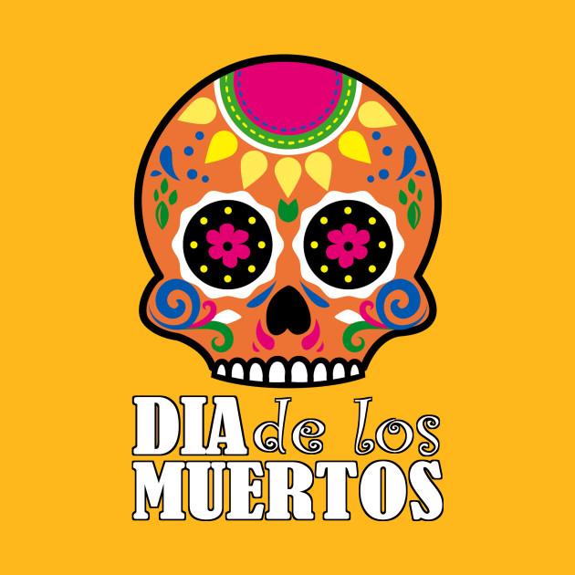 dia de los muertos orange skull christian design t shirt