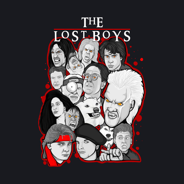 The Lost Boys character collage