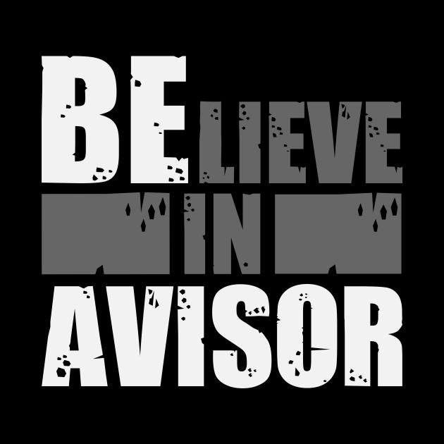 Believe In Advisor Typographic Design
