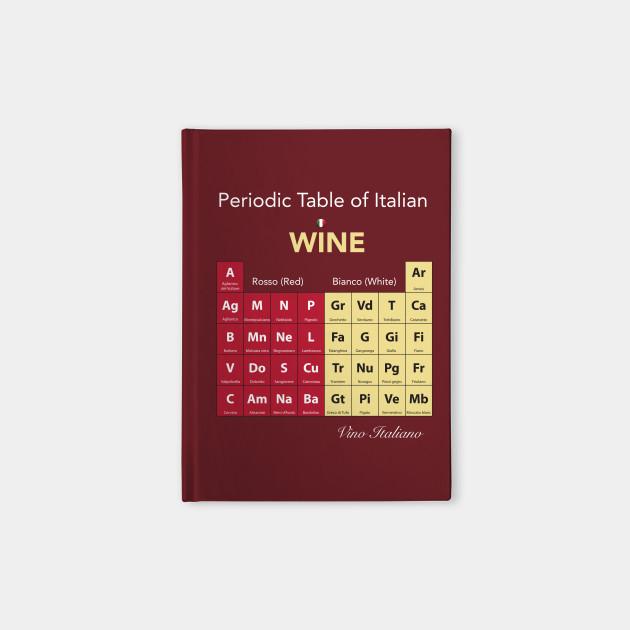 Periodic Table Of Italian Wine Periodic Table Of Wine Notebook