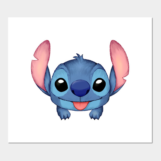 lilo and stitch funny cute stitch cute - Stitch - Posters and Art Prints |  TeePublic