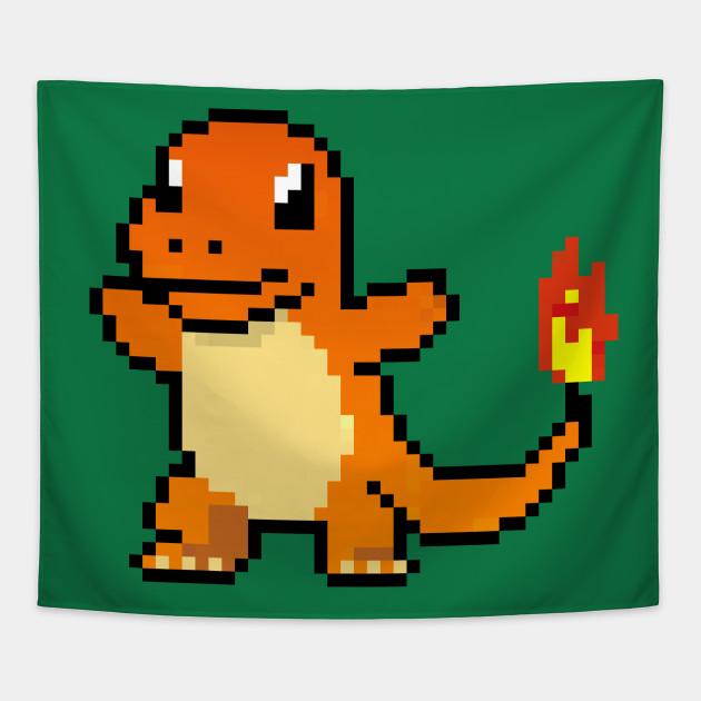 Charmander Pokemon Pixel Art