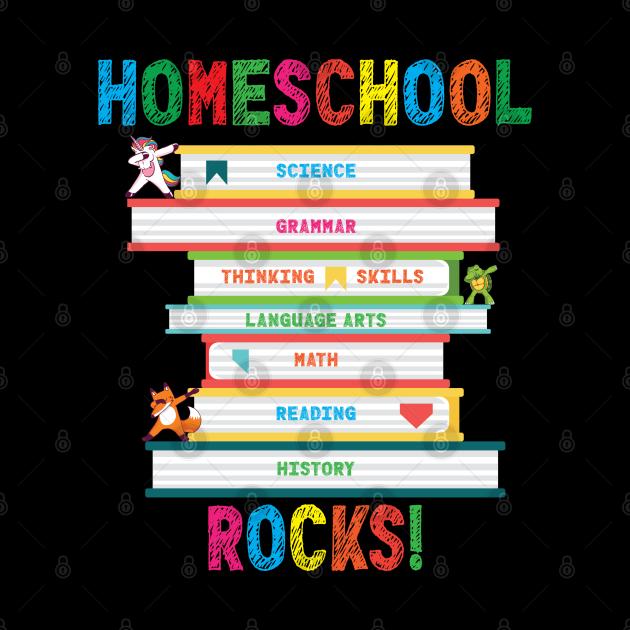Homeschool Rocks Dabbing Unicorn Fox Turtle Education Books