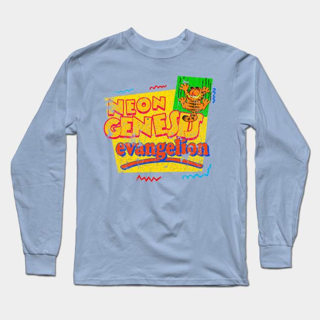 Neon Genesis Evangelion Meets Garfield And Friends Vintage Garfield And Friends Long Sleeve T Shirt Teepublic