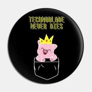 MCYT Button Technoblade Pin