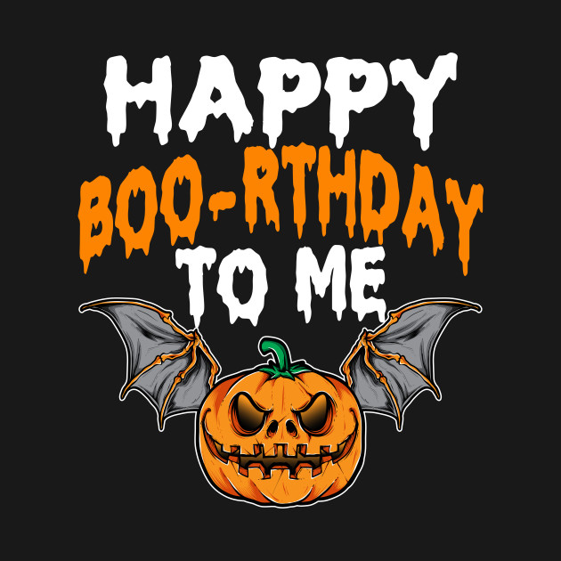 Halloween Birthday Shirt Happy Boo Rthday To Me Pumpkin Tee
