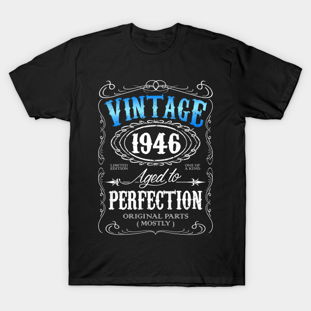 Vintage 1946 Aged To Perfection 70th Birthday Gift For Men 70 T Shirt