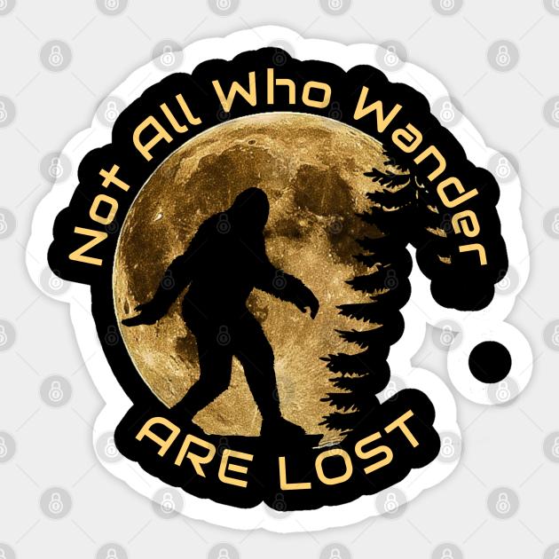 Retro Wanderlust Bigfoot Sticker