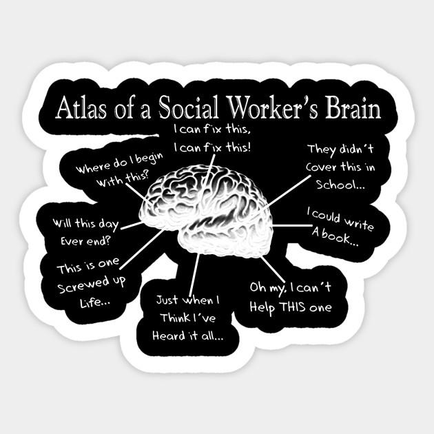 07346892 Atlas of a Social Worker's Brain Social Worker T Shirt - Social ...