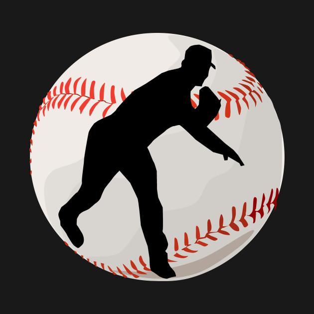 baseball pitcher silhouette baseball mug teepublic