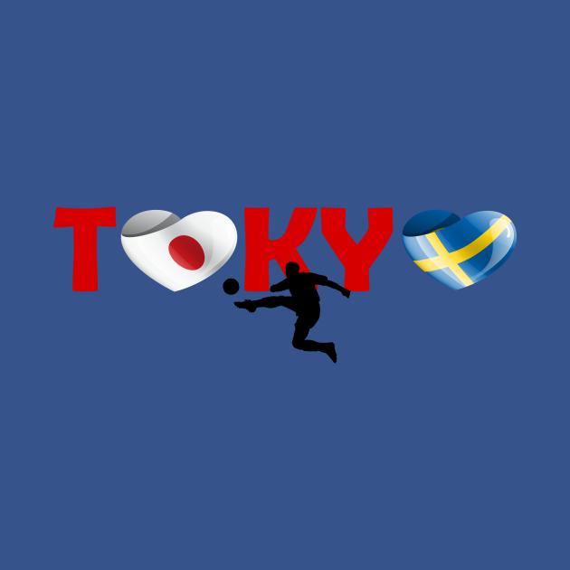 Football in Tokyo - team Sweden (SE)