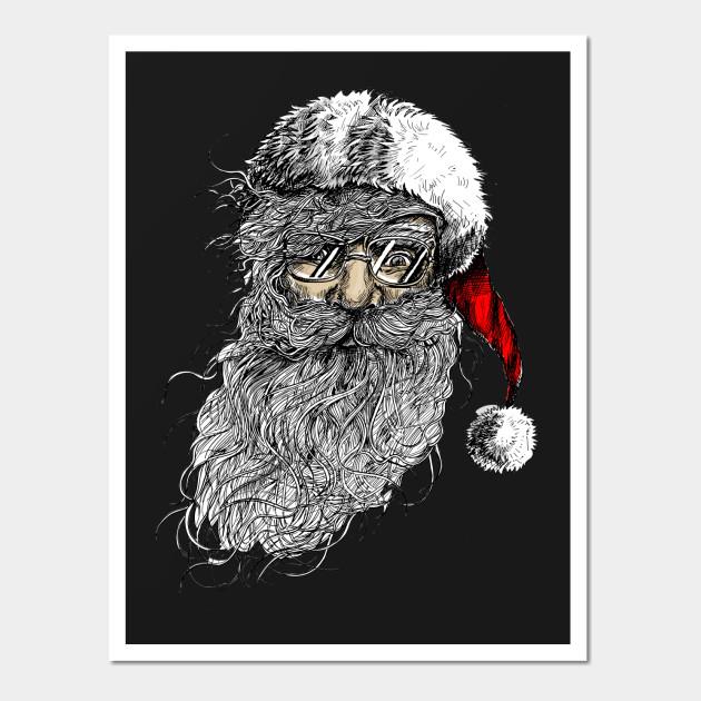 Santa Claus - Santa Calus - Wall Art | TeePublic