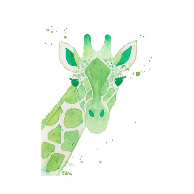 Lime Green Giraffe