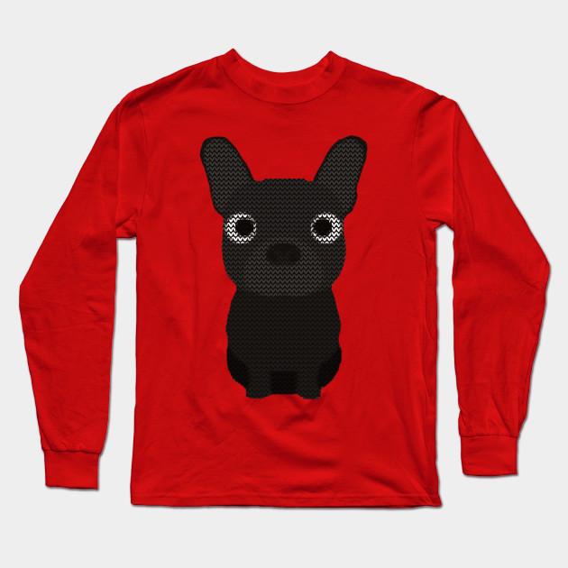 French Bulldog Christmas Jumper.French Bulldog Ugly Christmas Sweater Knit Pattern