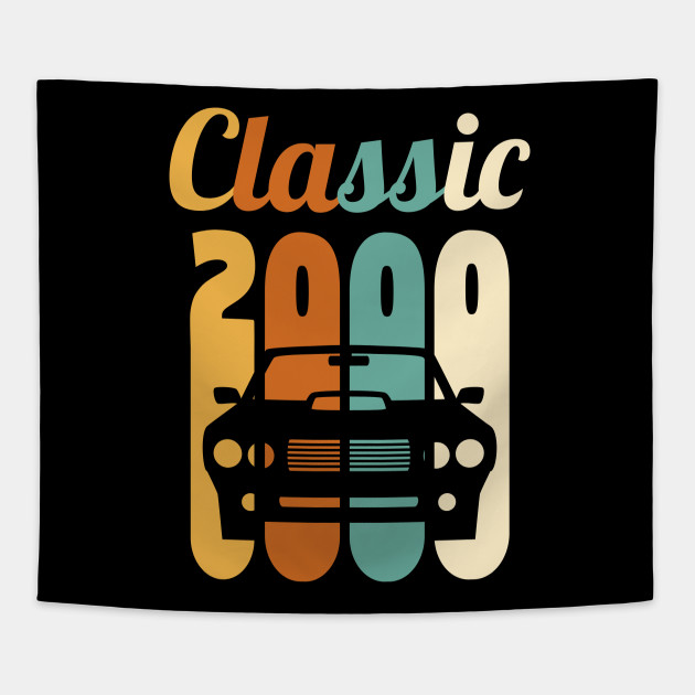 Vintage 2000 Birthday Shirt 19th Gift 19 Years Old Tapestry