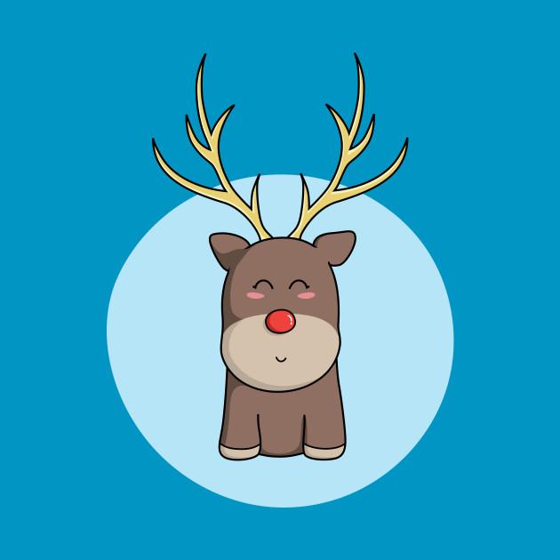 Cute Kawaii Christmas Reindeer
