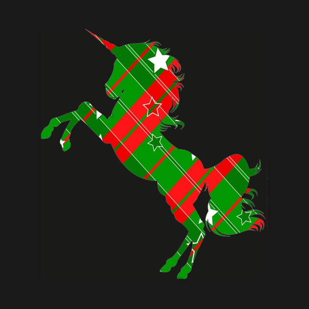 Unicorn, Christmas Paper, Holiday, Green and red,