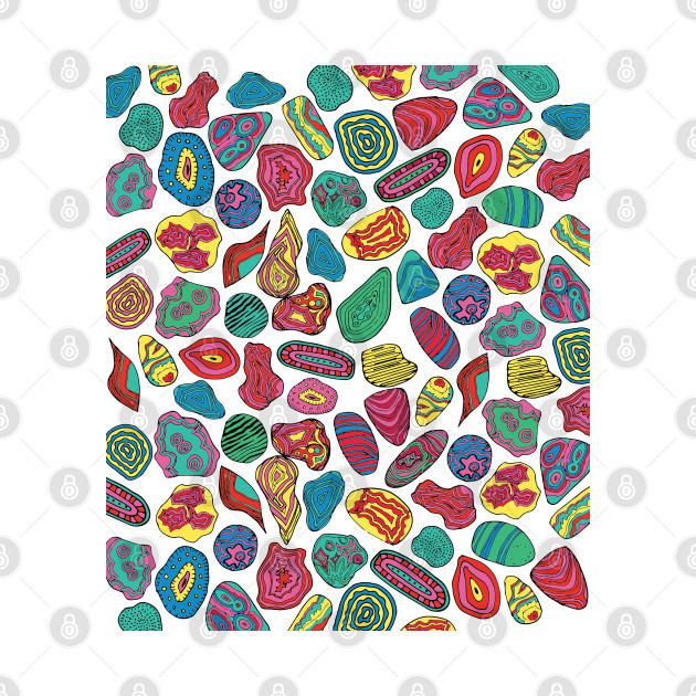 Gems, crystal stones pattern-Kika