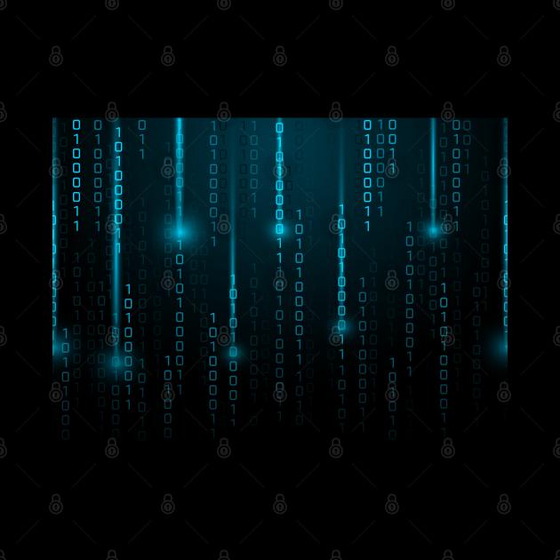 Matrix Numbers 0 1 Blue