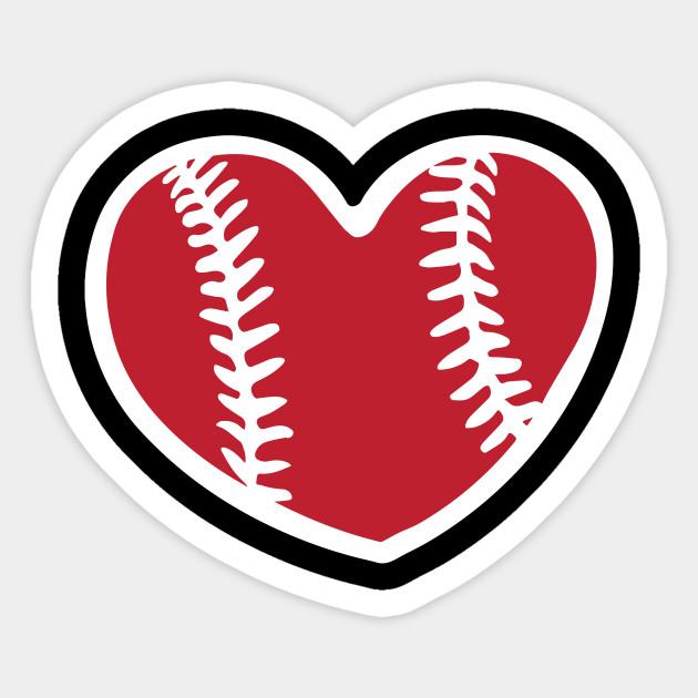 Baseball Heart I Love Baseball Cute Baseball Shirt Baseball Sticker Teepublic