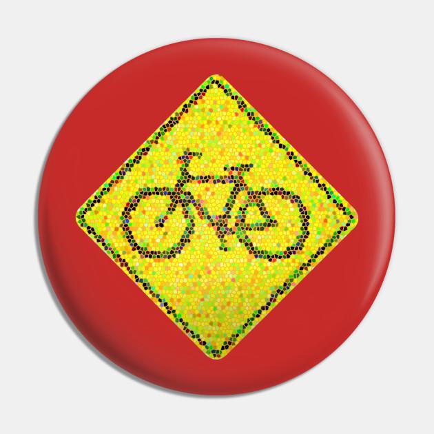 Bike Road Sign - Mosaic Style