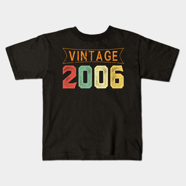 13 Years Old 2006 Vintage 13th Birthday T Shirt Decorations