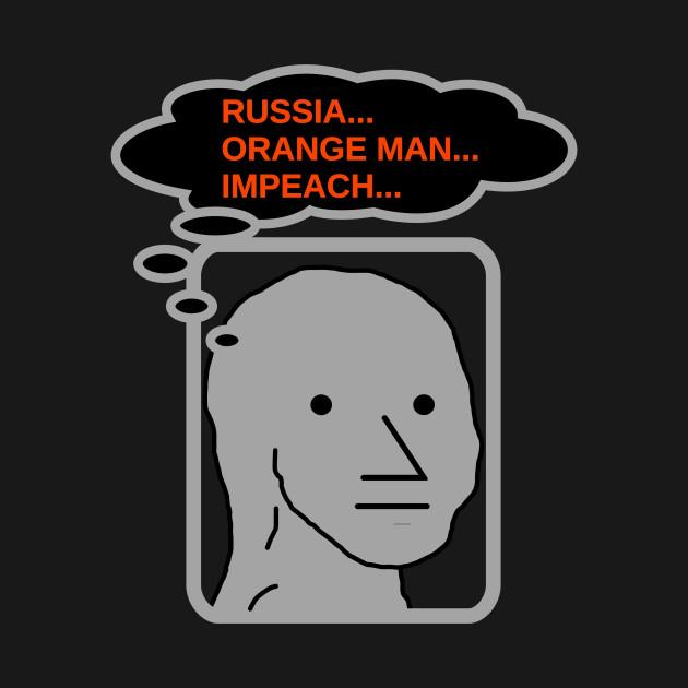 NPC Meme Russia Orange Man Impeach T Shirt