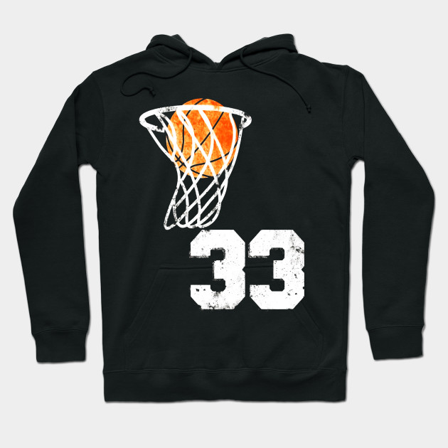 the latest 939f7 f30b0 Vintage Basketball Jersey Number 33 T-Shirt Player Number